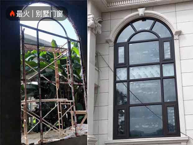 番禺大夫别墅全屋项目历经一年,完美竣工!(窗纱一体平开窗,重型平开门、铝合金玻璃阳光房)