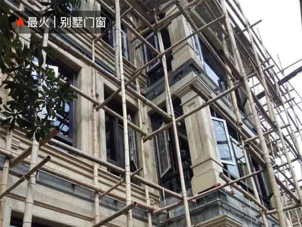 广州花都区保利高尔夫郡别墅窗纱一体平开窗安装实拍