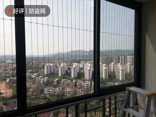 广州小区高层楼盘隐形防盗网 FDW-038