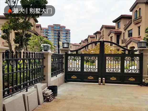 粤港花园别墅大门、围栏、护栏、铝门窗、雨棚、廷苑门 DM-028