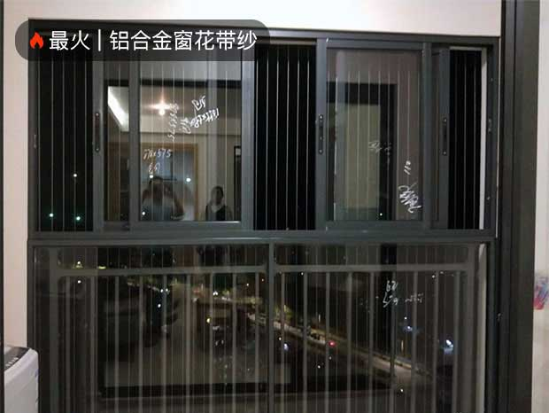 金泽豪庭全屋-隐形防盗网、推拉窗、铝合金窗花带纱,豪华三轨推拉门