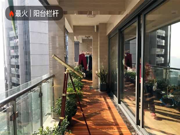 天銮全屋项目、不锈钢艺术屏风、不锈钢玻璃阳台栏杆、铝合金重形推拉门 LG-091