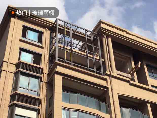 楼盘屋面不锈钢雨棚阳光房及阳光房安装 YP-040